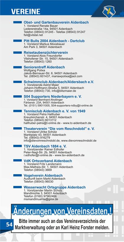 Vereine in Aidenbach