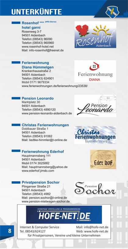 Unterkünfte in Aidenbach