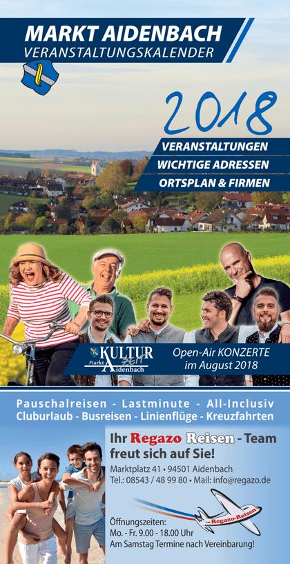 Veranstaltungskalender 2018 für Aidenbach