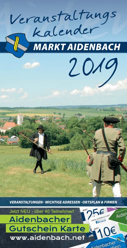Veranstaltungskalender 2019 für Aidenbach