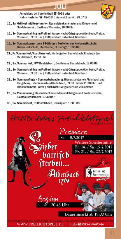 Veranstaltungskalender Beutelsbach September