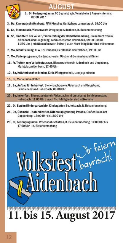 Veranstaltungskalender Beutelsbach Oktober