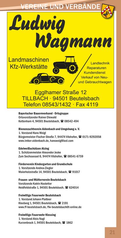 Vereine in Beutelsbach